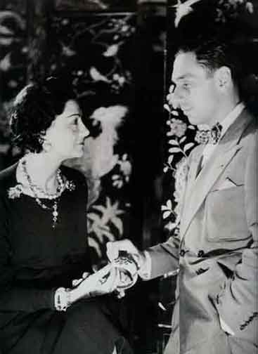 Figure 16 - Chanel with Fulco di Verdura in 1937.  Note the bracelet she is holding.  From <q>Jewelry by Chanel</q> by Mauries.